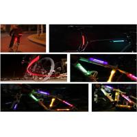 Green LED Fiber Safety Warning Stick / Bicycle LED Lights For Motorcycle Portable Manufactures