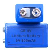 CR9V 800mAh LiMnO2 Lithium Battery Power Type 400mA Max Pulse Current Manufactures