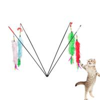 Feather Soft Pet Play Toys / Interactive Cat Toys Cute Size 55 * 1 Cm Manufactures