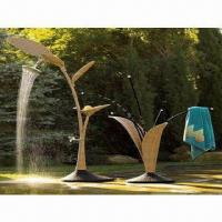 Wicker Garden Fountain Set, Made of Aluminum Tube Frame and PE Rattan Manufactures