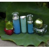 Skin Care Plastic Airless Cosmetic Bottles With Pump Silk Screen Printing Manufactures