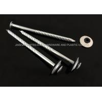 Electro Galvanized Roofing Nails Combined Washer Corrosion Resistant Needle Point Manufactures