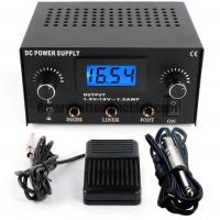 ABS Tattoo Power Unit , Tattoo Machine Power Supply Kit With Foot Switch And Cord Manufactures