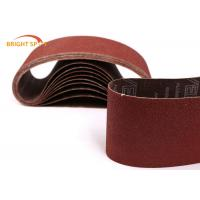 60 Grit Abrasive Metal Sanding Belts For Polishing Stainless Steel / Wood / Stone Manufactures