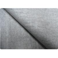 Grey Linen Upholstery Fabric Sportswear / Curtain Lining Fabric Manufactures