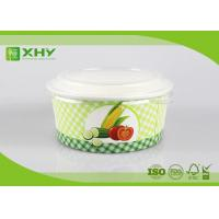 Custom Logo Printed Disposable Salad Paper Bowls with Clear Lids Manufactures