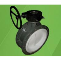 FEP / PTFE / PFA Lined Flange Butterfly Valve Manufactures