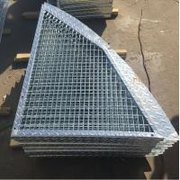Outdoor Anti Slip Galvanized Bar Grating , 30 * 3mm Metal Grid Flooring Manufactures