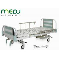 China Manual Control Mechanical Hospital Bed MJSD05-06 Two Crank Aluminum Alloy Board on sale