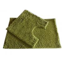 25mm Pile Height Chenille Microfiber Bathroom Mat , Olive Green Manufactures