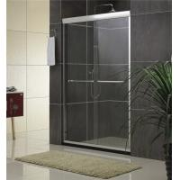 Quality Sand Silver Glass Shower Screen Aluminum Alloy Inline Double Sliding CE for sale