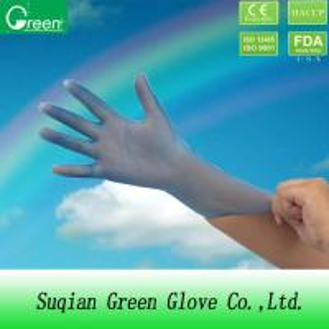 Blue Working Examination Vinyl Disposable Gloves Powder Free Or Powdered Manufactures