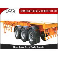 China Tri - Axle Container Semi Trailer , JOST Landing Gear Skeleton Trailer on sale