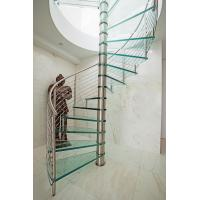 Inside spiral staircase with stainless steel railing design Manufactures