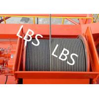 China High Efficiency Carbon Steel Tower Hoist Winch With Lebus Grooved Drum on sale