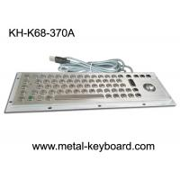 China Stainless Steel Industrial Keyboard with Trackball / IP65 Waterproof on sale