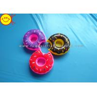 China Mini Delicious Food Inflatable Toys Donut Cup Holder for Party Fun / Bath Time wholesale