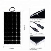 China 32 Cells ETFE Thin Film Flexible Solar Panel 12V/18V Sunpower 100W 110W  6.11A on sale