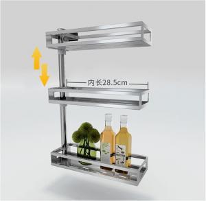 Fashion Style Countertop Storage Organizer, Adjustable Kitchen Counter Shelf Rack Manufactures