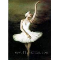 China Ballet Girl Dance Oil Painting Portrait on sale