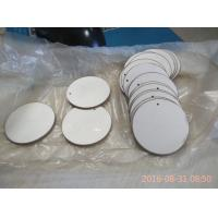 China 43x2mm Round Piezoelectric Ceramic Discs Positive and Negative in the Opposit Side on sale