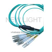 China LC Uniboot Branch MPO MTP Cable / OM3 OM4 40G 100G Mpo Patch Cable on sale