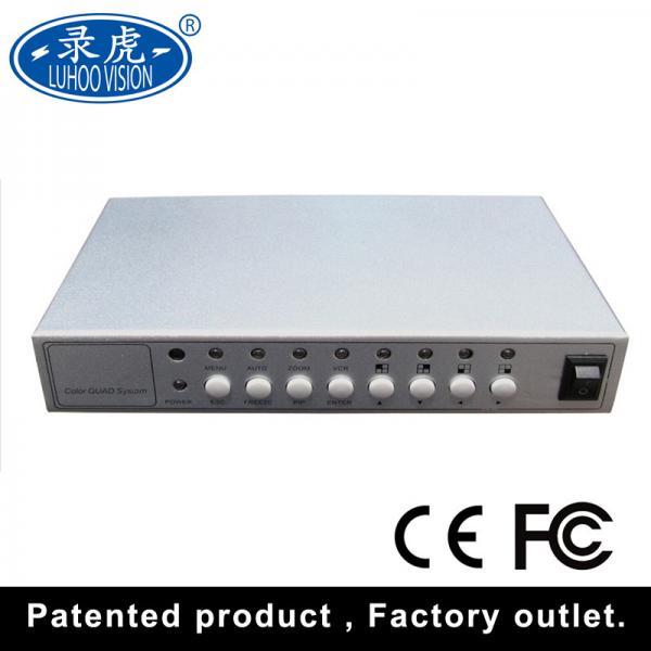 Quality Camera CCTV Quad Multiplexer , Vehicle 4 Channel Video Quad Processor for sale