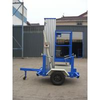 China 6 Meters Platform Height 130kg Loading Capacity Towing Single Mast Aerial Work Plaform For Long Distance Transportation on sale