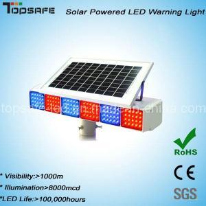 New Design Solar Powered Traffic LED Warning Light Manufactures