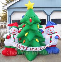 Buy cheap 2015 Hot Sale Inflatable Christmas Tree Snowman Decorations for Christmas Holiday from wholesalers
