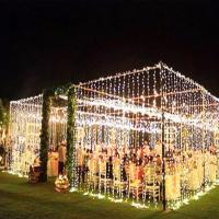 Waterproof Hanging Decorative LED String Lights Outdoor Use Warm White 50M Manufactures