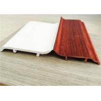 Decorative White PVC Skirting Board 10CM Height Hot Stamping Finish Manufactures