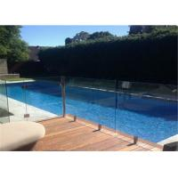 Buy cheap Top quality outdoor frameless glass fence by tempered laminated glass from wholesalers