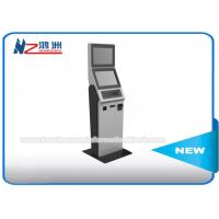 China 17 Inch Coin Counting Free Standing Kiosk With Keyboard , Coin Counter And Sorter Machines on sale
