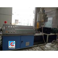 PP PE Pipe Extrusion Machine For Irrigate , Automatic Plastic Cool / Hot Water Pipe Production Line Manufactures