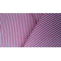 Thin Spandex / Cotton Printed Knit Fabric 180 - 230gsm , Striped Jersey Knit Fabric Manufactures
