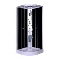 Steam Massage with Electronic computer panel Circle Quadrant Shower Cabin with white acrylic tray and roof Manufactures
