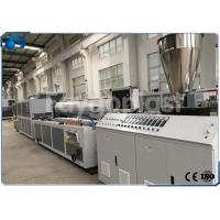 Automatic Plastic Profile Production Line Extrusion Machine For PVC / WPC Raw Materials Manufactures