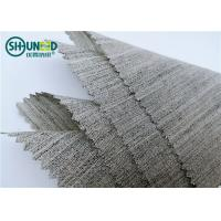 Soft Woven Wool Light Hair Bow Interlining Canvas Fabric For Garment Overcoat Manufactures