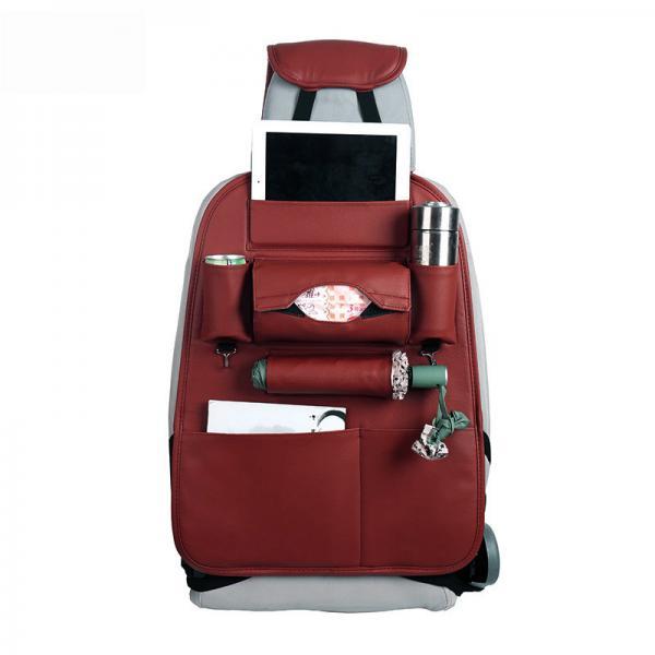 Quality Durable Foldble Car Additional Accessories PU Leather Car Back Seat Organizer Multi Pocket for sale