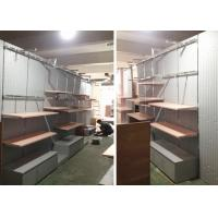 Lady Retail Clothing Store Shelves With Wooden Stainless Steel Material Manufactures