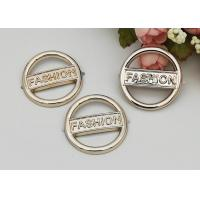 China Round Fashion Resistant Ladies Shoe Buckles , Shoe Buckle Replacement on sale