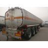 Buy cheap Tri Axles Heavy Duty Semi Trailers , Fuel Tank Trailer For Oil Transportation from wholesalers
