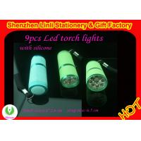 High quality aluminium and silicone 9pcs best  led mini led torch light  Manufactures