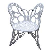 Single Butterfly Wrought Iron Chairs And Circle Table OEM Weather Resistant Manufactures