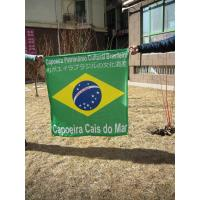 Digital Custom Fabric Banners Printing Blue / Green For Inkjet Colour Poster Printing Manufactures