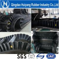 Corrugated Sidewall Large Angle Conveyor Belt for Cement with ISO9001 500mm height cleat DIN Standard Manufactures