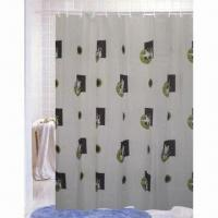 Non-toxic Shower Curtain, Measures 1.8 x 1.8m, Made of Satin Manufactures