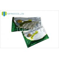 Zipper Top Aluminum Foil Fishing Lure Packaging Bag With Clear Window Manufactures