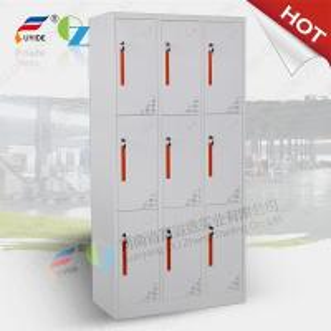 Fashionable 6 door storage steel locker/staff metal locker,CNC laser cutting machine make Manufactures